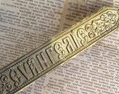 "vintage plate with the inscription ""gospel""...   Feb 14FL"