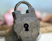 antique lock to hold your BIG, DARK SECRETS....   to use in your assemblage, mixed media, jewelry  May 20