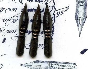 10 vintage pen nibs    POVT