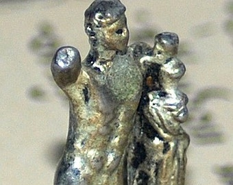 who was this tiny Greek god....   to use in your assemblage mixed media jewelry T 16
