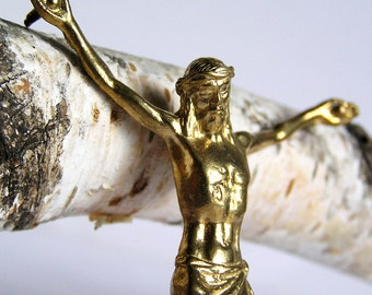 vintage crucifix, religion curcifix, faith christianity, coolvintage, metal patina, home decor, POVT