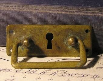 vintage  escutcheon...   key hole plate... Feb 14