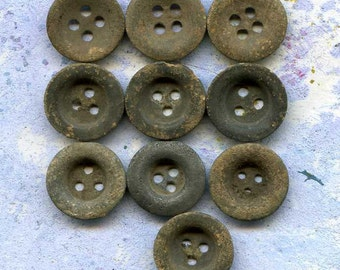 WW1 buttons...10 vintage buttons from the private dig... c. 1914... antique... Cool Vintage Laf X 500