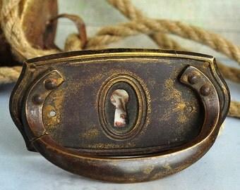 vintage escutcheon, key hole plate, metal plate, coolvintage, door, furniture, secret, UA