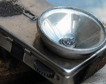 Vintage old metal flashlight, Home Decor, Cool Vintage, Industrial decor, 2018