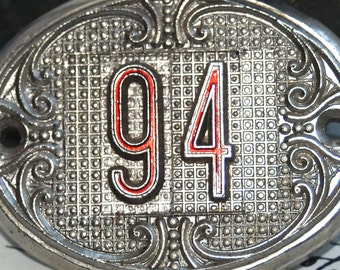 Antique Industrial 94...  room number tag Laf