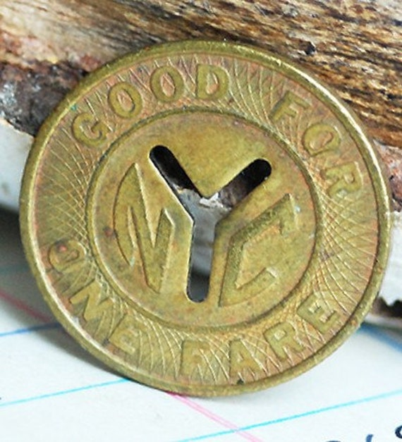 vintage New York City NYC Subway Y tokens to use in your assemblage mixed media JEWELRY or in any way you would want it to POVT