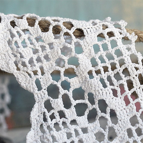 2 matching vintage crochet lace pieces for your art project...  May 10b