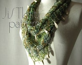 Hand Knit Mobius Cowl Pat...