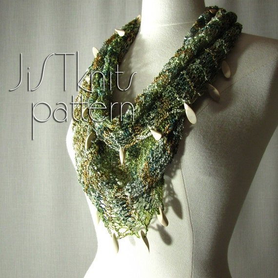 Hand Knit Mobius Cowl Pattern with optional Beads