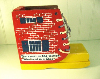 Vintage Holgate 792 Educational Lacing Shoe