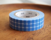 Japanese masking tape blue grid.  For your craft projects, scrapbooking, packing, gift wrapping.