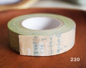 mt masking tape green graffiti music note. For your scrapbooking, packing, deco tape.