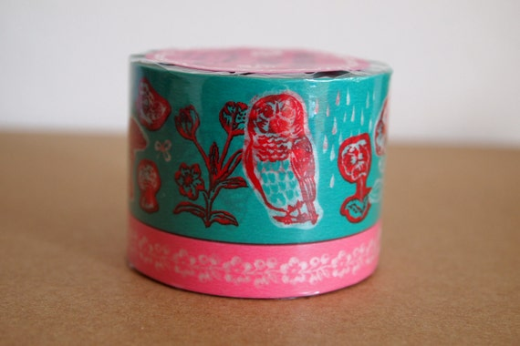Masking tape cats owls, rabbits designed by Natalie. Super cute for your craft projects, scrapbooking, packing, gift wrapping. Set of 2.