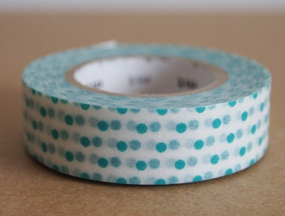 mt masking tape green dots on white. For your scrapbooking, packing, organise things.
