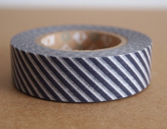Japanese masking tape black stripe. For your craft projects, scrapbooking, packing, gift wrapping.