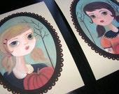 Halloween Pumpkin Queens Small Print Set