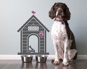 Dog House Wall Decal: Personalized Name Sign Size Small