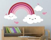 Kids Happy Rainbow Wall Decal: Rainbow Room Decor
