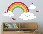 Happy Rainbow Vinyl Wall Decal Children Nursery Baby