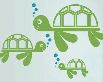 Sea Turtle Wall Decal: Ocean Nursery Kids