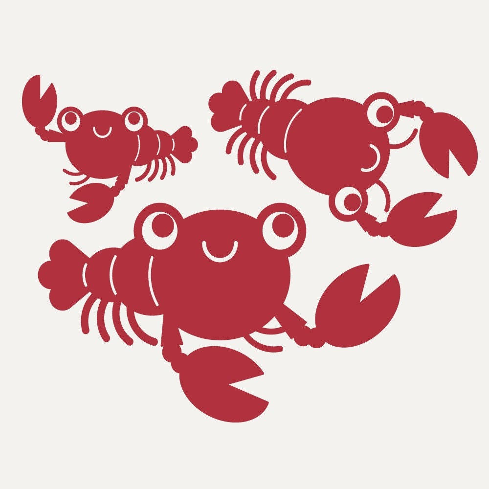 Kids Lobster Wall Decals Nautical Ocean Beach By Graphicspaces