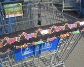 DACHSUND  PRINTED FABRIC GROCERY CART HANDLE COVER