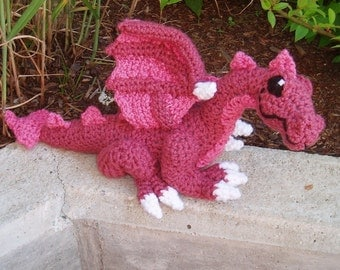 PATTERN -- Crocheted Dragon