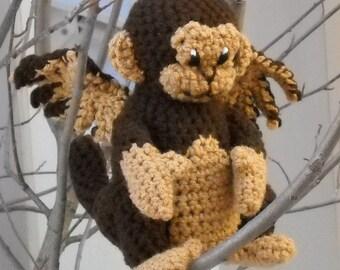 PATTERN -- Crochet Winged Monkey