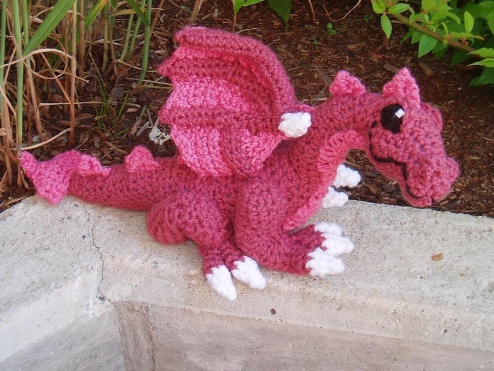 Free Easy Dragon Crochet Pattern : PATTERN Crocheted Dragon
