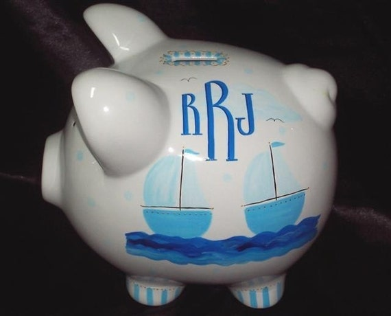 Unavailable listing on etsy - Nautical piggy banks ...