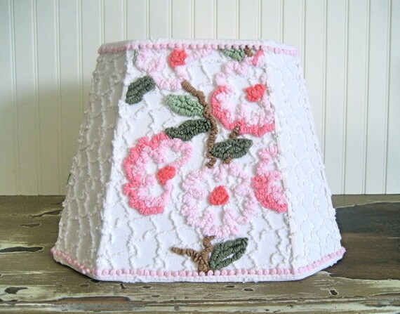 Pink Posey Vintage Lampshade