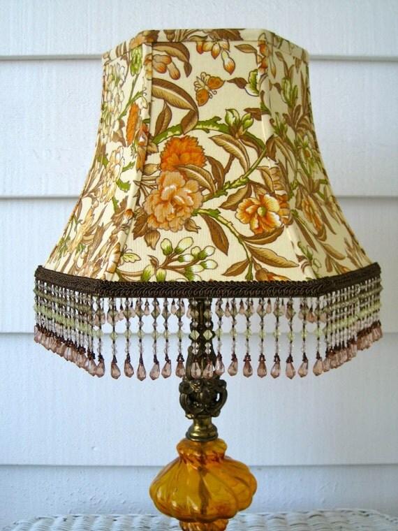 Golden Floral Vintage Lampshade