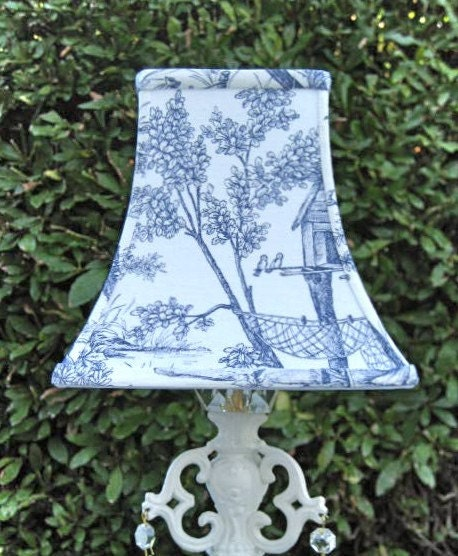 French Country Blue Lamps: SALE Blue And White Toile Lampshade