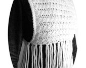 Knitting Pattern Poncho Aran Cableknit Vest with Tassels