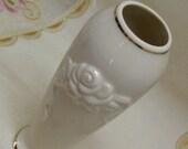 COTTAGE CHARM - LENOX Vintage Porcelain Bud Vase - Roses Too - Chic
