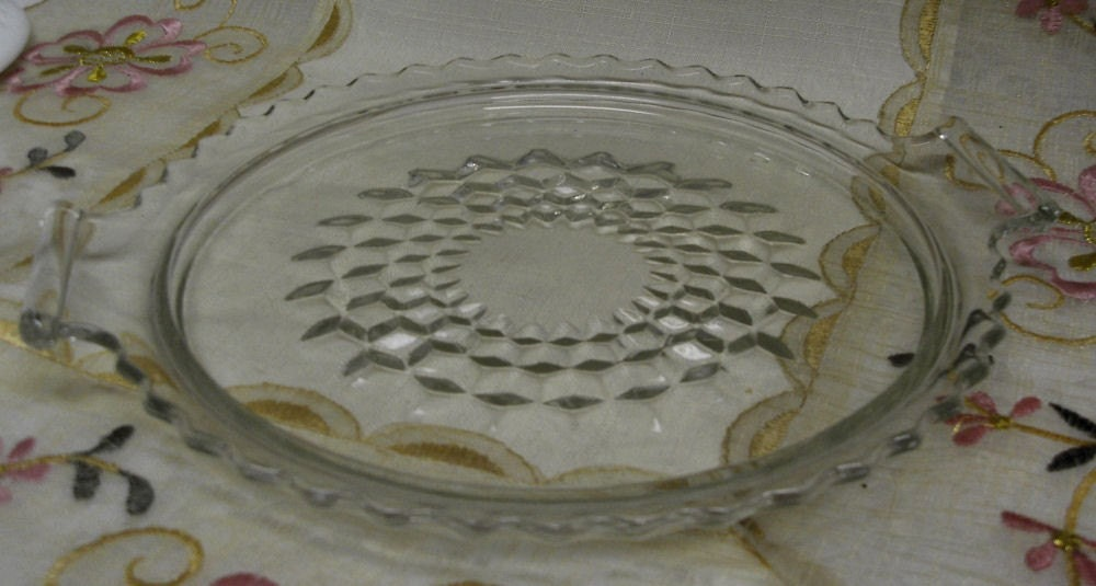 Glass Round Tray Vanity Tray Sandwich Tray Clear