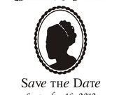 Cameo Save the Date Stamps
