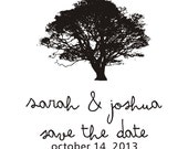 Oak Tree Save the Date Stamp