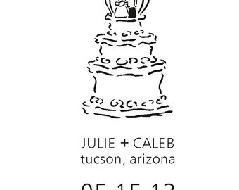 Wedding Cake Save the Date stamp