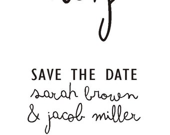 Whimsical Save the Date Stamp