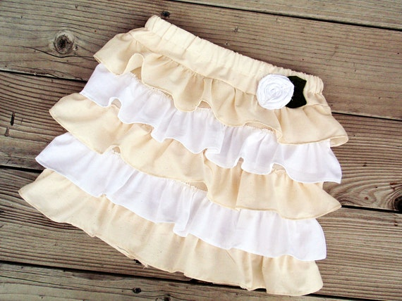 Shabby Chic Little girl ruffle twirl skirt in available in sizes 3-6 months to 5T