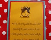 Mod kitty cat invitation