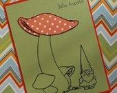 Personalized mushroom/gnome notecards