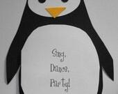 Penguin party invite