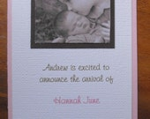Birth Announcement Pink and Brown
