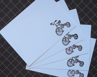 Embossed tricycle note set