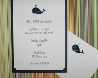 It's a whale of a party invitation set