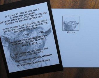 Yoda - Star Wars birthday invitation