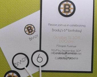 Sports team birthday theme invites